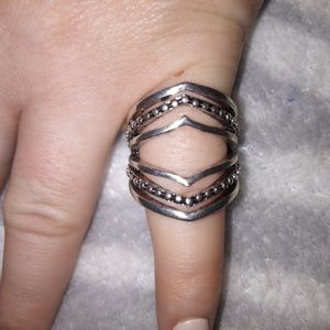 Stainless costume ring, size 7